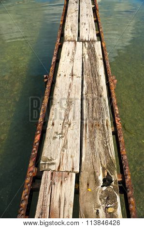 improvised bridge in local harbour