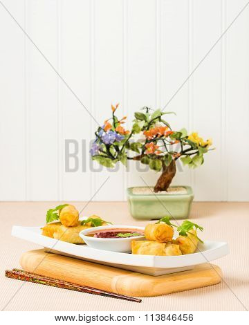 Spring Rolls And Dipping Sauce