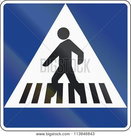 Road Sign Used In Spain - Crosswalk