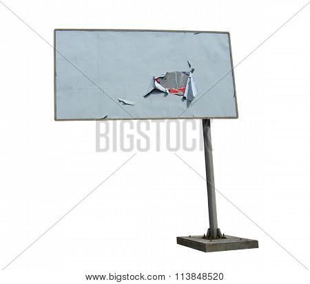 Billboard Isolated On The White