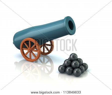 Illustration Of Artillery Gun