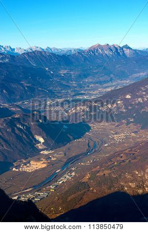 Aerial View Of Adige Valley - Italy