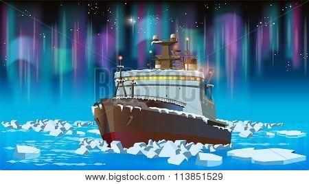 Icebreaker At Night