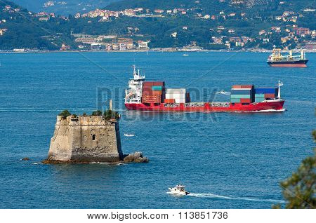 Container Ship - Gulf Of La Spezia Italy