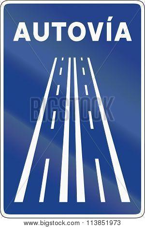 Road Sign Used In Spain - Motorway