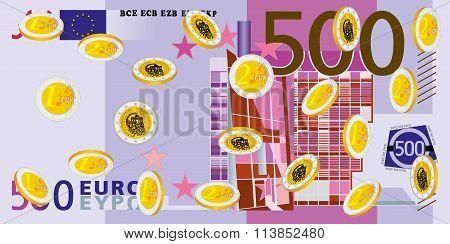 Coins Rain - Euro