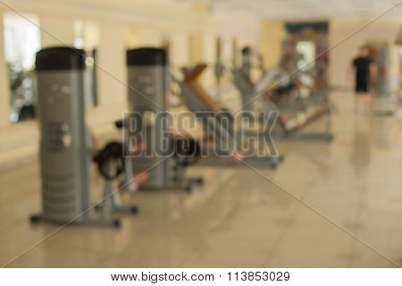 Training apparatus in gym.
