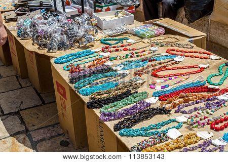 Jerusalem Market In Old City, Necklaces