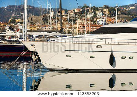 Luxury Yacht In The Harbor - La Spezia