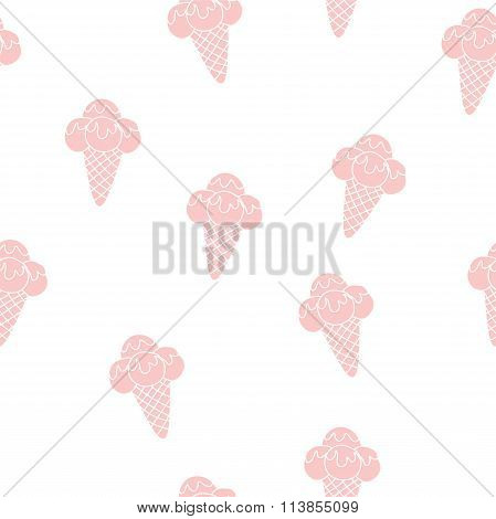 Pattern Ice Cream vector illustration eps 10. Background of texture strawberry and vanilla Ice Cream