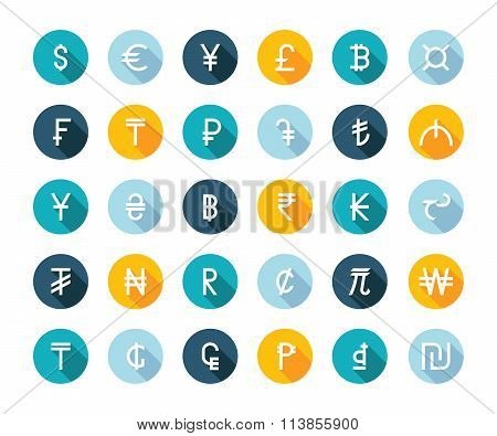 Vector Set Currency Symbols