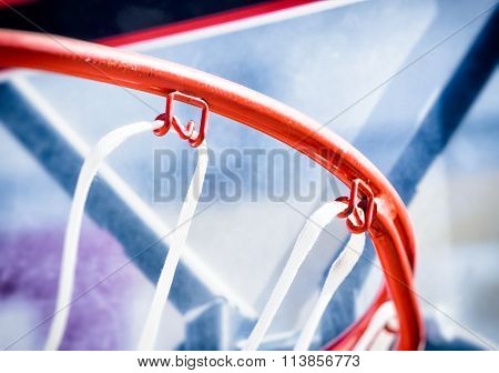 Inside Of A Basketball hoop