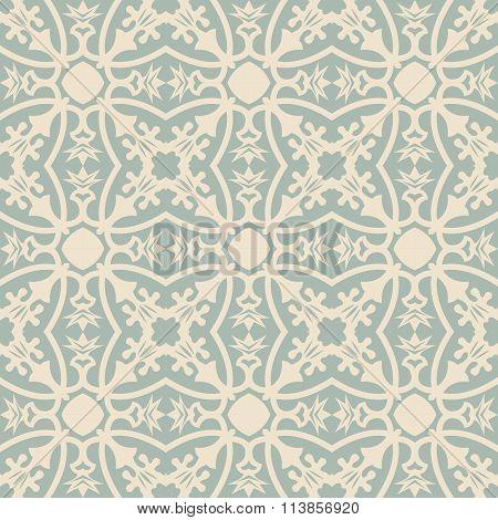 Elegant antique background image of flower vine calyx leaf pattern.