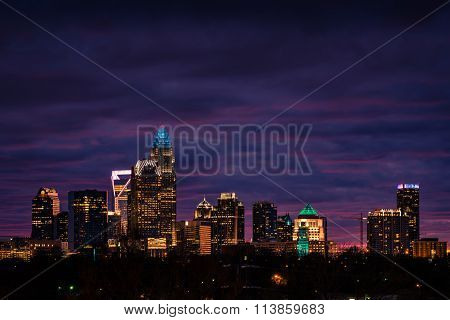 Charlotte, North Carolina Winter Sunset