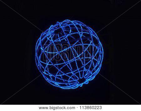 Blue Lighted Sphere