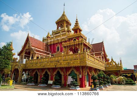 Temple In Thailand,  Wat Prathat Ruang Rong, Thailand.