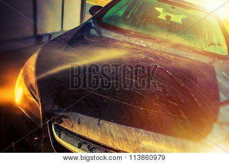 Vehicle In Self Car Washing