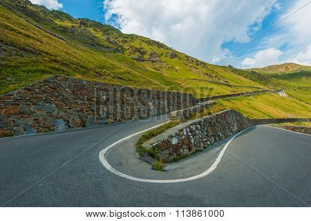 Winding Alpine Road