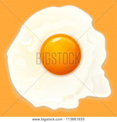 egg on orange