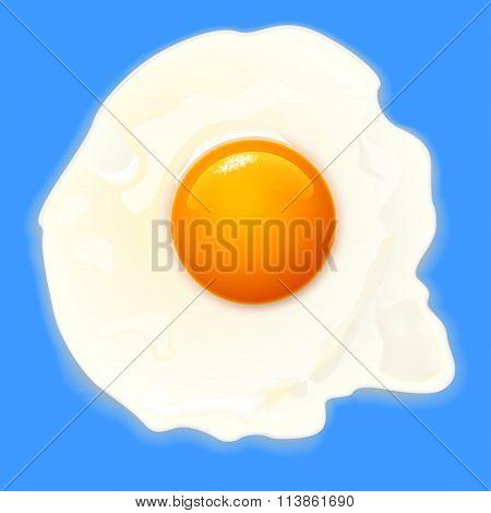 egg on blue