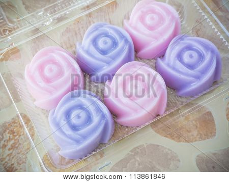 Colorful of thai jelly dessert