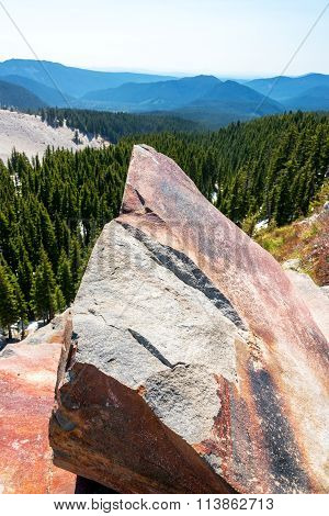 Large Boulder On Mt Hood