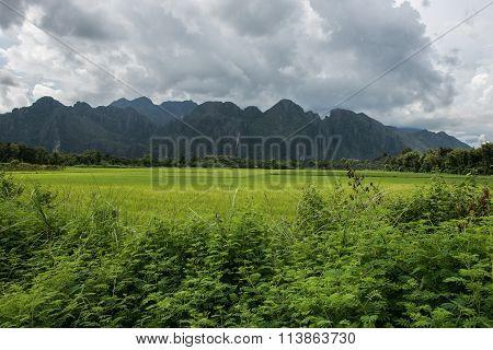 Landscape of Vang Vieng