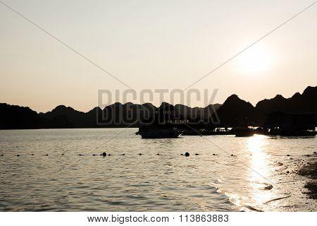 Sunset View of Ha Long Bay