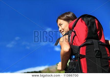 Hiker Looking
