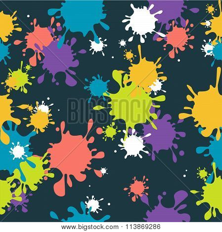 Drop Blot Background Seamless. Vector