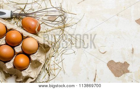 The Cassette With Eggs, Hay And Whisk .