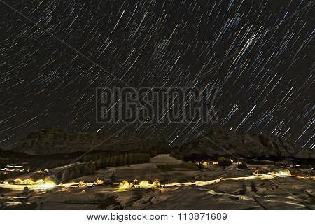 Starry Night Over The Italian Mountains