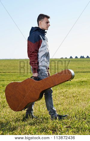 Teenage Guitarist Outdoor