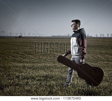 Teenage Guitarist Outdoor