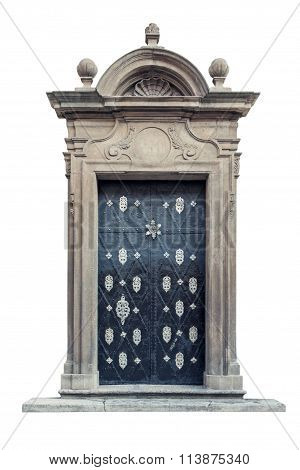 Decorative Baroque Palace Doors Isolated