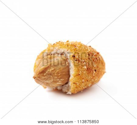 Spicy flavour crunchy nuts isolated