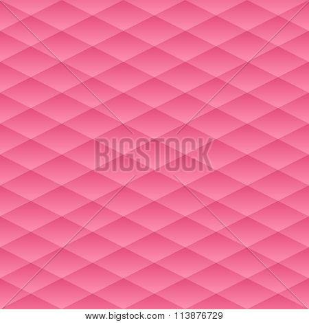 Vector Seamless Pattern. The Geometric Volume With A Gradient Pattern. Pink Geometric Neutral Backgr