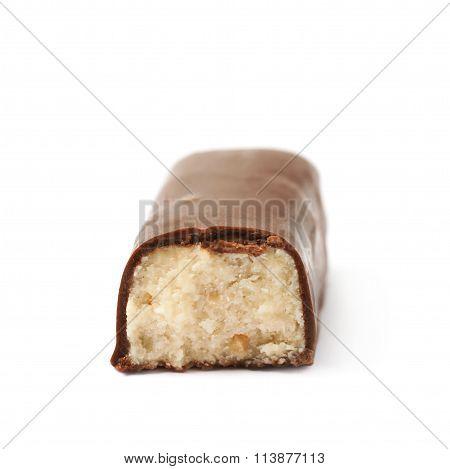 Chocolate coated marzipan candy