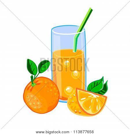 A Glass Of Fresh Orange Juice