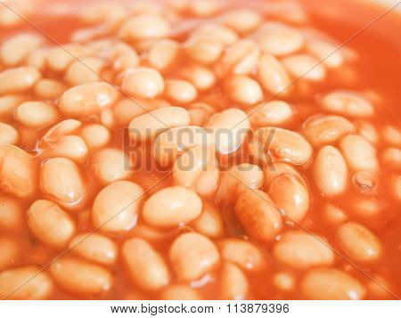 Retro Looking Baked Beans