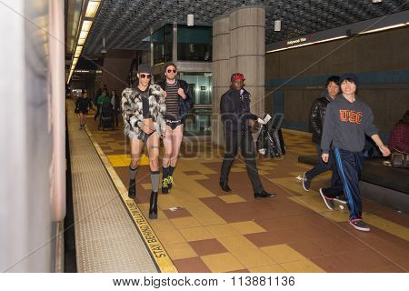 Men Without Pants On The Subway