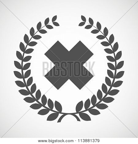 Isolated Laurel Wreath Icon With An Irritating Substance Sign