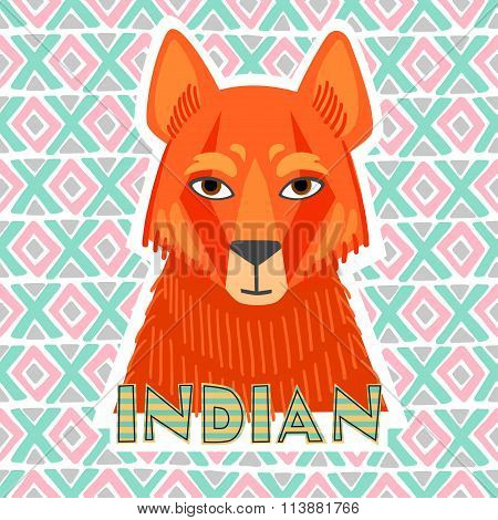 jackal red vector illustration