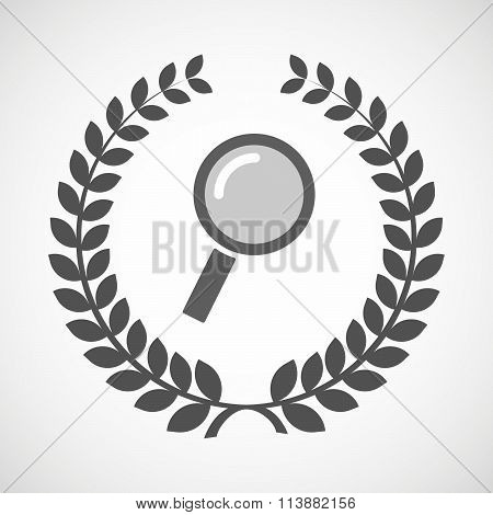 Isolated Laurel Wreath Icon With A Label