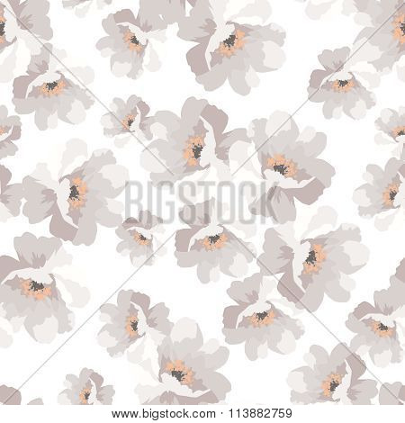 Seamless Elegant Pattern With Flowers Roses