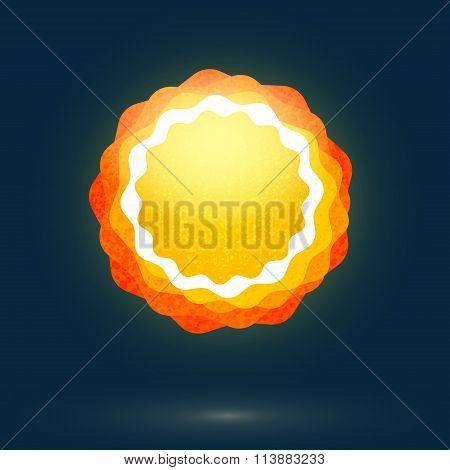 Abstract Sun symbol at dark