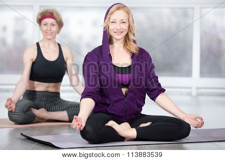 Senior Women On Meditation Session
