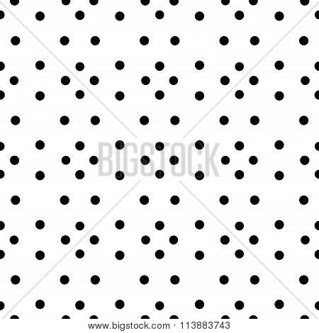 Unusual black and white small polka dot rhombus seamless pattern
