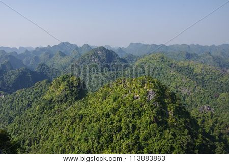 Panorama Of Cat Ba National Park In Vietnam