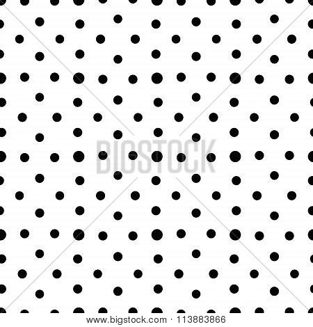 Unusual black and white small polka dot seamless pattern